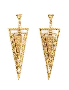 Layered Triangle Dangle Earrings: Charlotte Russe