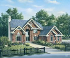 Eplans New American House Plan - With an Impressive Intrance - 3657 Square Feet and 4 Bedrooms from Eplans - House Plan Code HWEPL15015