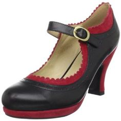 red/black mary jane shoes