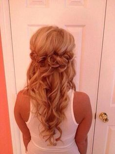 Gorgeous half up half down prom/formal hair style