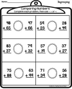 math worksheet : three digit addition and subtraction strategies anchor chart  : Checking Subtraction With Addition Worksheet