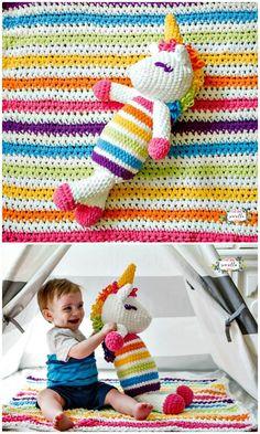 Free Crochet Plushy Unicorn Pattern - Crochet Unicorn Pattern- 32 Free Crochet Patterns - DIY & Crafts