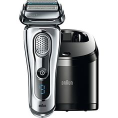 Braun Series 9 is our most efficient and comfortable shaver. The intelligent SyncroSonicTM technology delivers 40.000 cross-cutting actions per minute for an outstandingly thorough shave and amazing skin comfort. The Series 9 shaver combines ergonomic Braun Design with highest Braun quality. Braun - Designed to make a difference. Proven on 3 day beards.