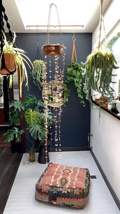 A sacred space redesign during the changing of seasons is a great way to transit...#changing #great #redesign #sacred #seasons #space #transit Big Indoor Plants, Fake Plants Decor, Room With Plants, Hanging Plants, Plant Rooms, Indoor Cactus, Hanging Gardens, Indoor Gardening, Boho Bedroom Decor