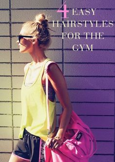 Don't Sweat It: 4 Easy Hairstyles for the Gym – Studentrate Trends - Beauty Esthetic Hair Workout Hairstyles, Summer Hairstyles, Pretty Hairstyles, Easy Hairstyles, Sporty Hairstyles, Fitness Inspiration, Hair Inspiration, Hair Dos, Swagg