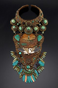 amazing statement beaded necklace by Heidi Kummli