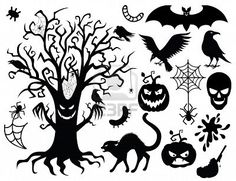 Collection Of Silhouettes For The Halloween . Royalty Free Cliparts, Vectors, And Stock Illustration. Image 10440251.