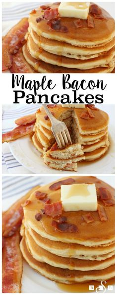 Maple Bacon Pancakes - Butter With A Side of Bread