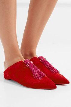 CHRISTIAN LOUBOUTIN Medinana fringed suede slippers