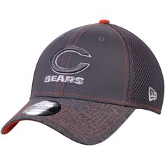 Men s Chicago Bears New Era Graphite Shadow Burst 39THIRTY Flex Hat 86fdcc300
