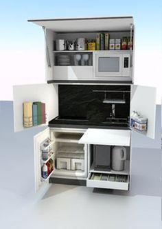 Cuisine compacte sur pinterest meubles peu encombrantes - Cuisine compacte ...