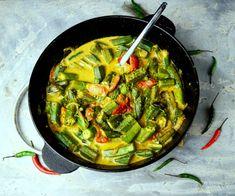 mildes Curry mit Okra für die kulinarische Weltreise mit Ziel Sri Lanka