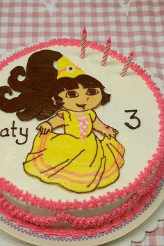 Buttercream Transfer Dora 4