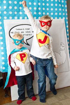 Super Hero Birthday http://karaspartyideas.blogspot.com/2011/03/vintage-comic-super-hero-pop-art-party.html