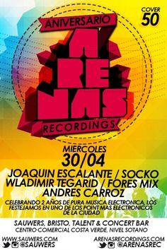 Anniversary Arenas Recordings #flyer #poster #djs #gigs