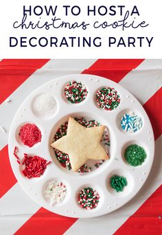 Perfect Sugar Cookies - Our Cookie Party : Hosting a kids cookie decorating party - use a paint palette for sprinkles Christmas Cookies Kids, Cookies For Kids, Fun Cookies, Holiday Cookies, Kids Christmas, Christmas Goodies, Sugar Cookies Recipe, Cookie Recipes, Cookie Decorating Party
