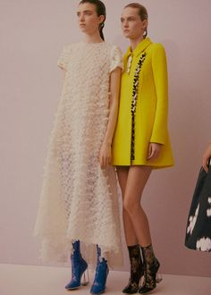 Left, Grace Hartzel (Next), right, Harleth Kuusik (Elite) backstage at Christian Dior Haute Couture SS15