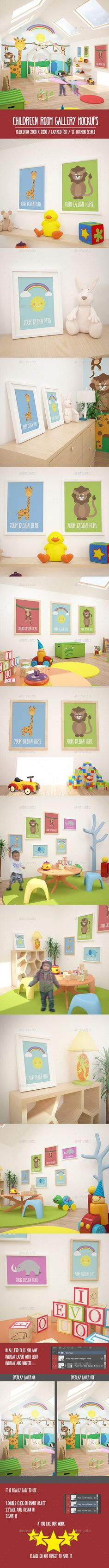 12 Children Room Gallery MockUPs Pack — Photoshop PSD #canvas #product promotion • Available here → https://graphicriver.net/item/12-children-room-gallery-mockups-pack/16300884?ref=pxcr