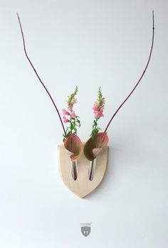 Mounted Wall Antlers Made From Plants   Mental Floss