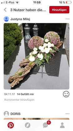 Most up-to-date Pics Grabschmuck Thoughts Among the absolute most lovely and sophisticated types of plants, we carefully selected the correspo Arrangements Funéraires, Funeral Flower Arrangements, Modern Flower Arrangements, Arte Floral, Deco Floral, Types Of Flowers, Diy Flowers, Flower Decorations, Grave Flowers