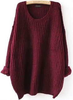 Shein Batwing Drop Shoulder Loose Knit Sweater
