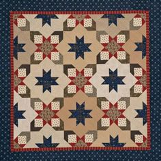 Starry Square-in-a-Square Quilt | AllPeopleQuilt.com