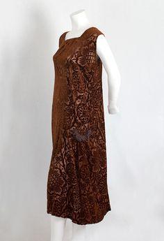 French devoré velvet dress, c.1925