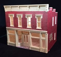 HO Scale 2 Story Building 039 Saul Wright 039 DPM 102 Lighted Free US Shipping | eBay