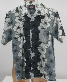 06c85012 Details about Men Hawaiian Floral Print Dress Shirt Sz MED Kona wave Aloha  Hawaii BEAR Surf
