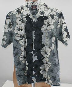 690bb0147d38 Details about Men Hawaiian Floral Print Dress Shirt Sz MED Kona wave Aloha  Hawaii BEAR Surf