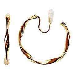 Bangles, Bracelets, Clip On Earrings, Spiral, Elegant, Gold, Jewelry, Women, Classy