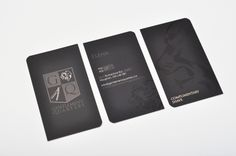 18pt Spot UV cards with opposite edges rounded, MGS created logo and business card design.