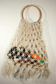 Borsa in macramè, di corda naturale made in Italy, by caryhandmade, 38,00 € su misshobby.com