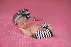 Black and White Chiffon and Lace Flower Headband-Baby Girl Headband-Newborn Headband-Baby Headband-Photo Prop-Toddler Headband on Etsy, $12.00