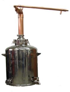 """3 inch Pot Still and 26 Gallon Boiler With Thermo Port. This is a 3"""" Pot Still Head combined with our 26 Gallon Milk Can boiler set up. You will receive all gaskets and clamps. Add a heat source and you're ready to roll! This has a thermo-port in the head of the still. You will need to order your thermometer separately. These systems are currently on a 4 week build time. THIS CAN ONLY BE SHIPPED UPS. USPS WILL NOT SHIP THIS DUE TO SIZE. PLEASE SELECT UPS WHEN MAKING YOUR SHIPPING SELECTION."""