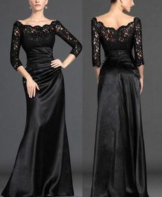 Modest Long Sleeves Formal Evening Prom gowns Sexy Elegent Mother of the Bride party Dresses on Etsy, $144.00