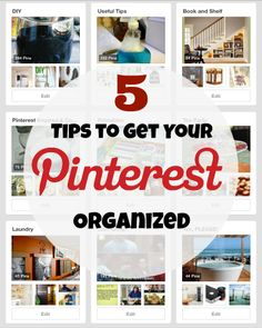 5 Tips to Organize Your Pinterest Boards | Houseologie