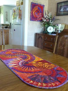 NYB table runner. I love these blocks and colors!
