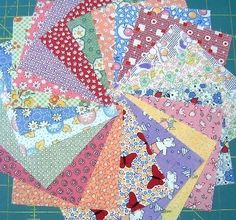 Quilt Charm Squares 30's and 40's Reproduction by SEWFUNQUILTS, $7.75