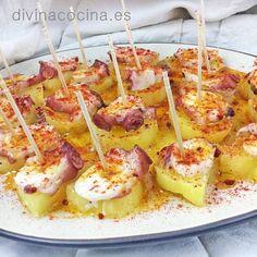 Pinchos de pulpo a la gallega < Divina Cocina