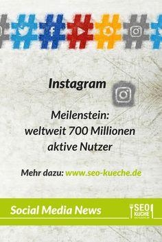 Instagram hat neue Nutzerzahlen veröffentlicht. Im April 2017 verzeichnet das soziale Netzwerk weltweit mehr als 700 Mio aktive Nutzer