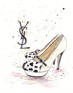 YSL Pumps  Art Print 8x10 by claireswilson on Etsy, $20.00