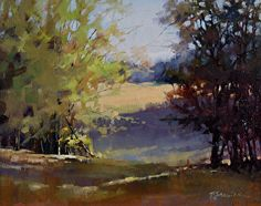 Into the Pasture by Barbara Jaenicke Oil ~ 11 x 14