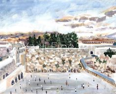 Pesach was a complete dream. Every part of it - the family bonding, getting to meet so many of you, the air, the view...and even the Instagram detox, it was all so special. They will be memories that will be cherished forever... IH next year in Yerushalayim!! Daytime Kotel scene. Oil painting.