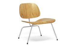Mid-Century Modern Wooden Plywood Chair with Metal Legs | Wholesale Interiors