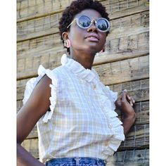 Instagram- authentically.b  Short natural hair, cut and color, tea, big chop, 4b/c hair, tapered afro