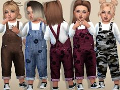 Pinkzombiecupcakes' Cozy Denim Winter Overalls For Toddlers(Toddler SP) - Kinderspiele Toddler Cc Sims 4, Sims 4 Toddler Clothes, Sims 4 Cc Kids Clothing, Sims 4 Mods Clothes, Toddler Girl Outfits, Kids Outfits, Girl Toddler, Children Clothing, Toddler Fashion