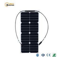 Boguang 25W High Efficiency solar panel 12V Solar DIY Solar system RV Marine Mobile house Camp car Autohome Application