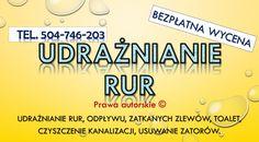 Czyszczenie kanalizacji sprężyną mechaniczną Udrażnianie kanalizacji, brodzików, zlewów, wanien, muszli klozetowej. Czyszczenia rur kanalizacyjnych obejmuje między innymi przepychanie zlewów. Odtykanie zatkanej toalety, udrażnianie pisuarów, przetykanie odpływu w wannie i brodziku, spiralą do rur. Usuwanie awarii hydraulicznych. tel. 504-746-203 Wrocław