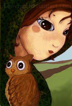 the owl- leovinh by childrensillustrator on DeviantArt  Found on childrensillustrator.deviantart.com